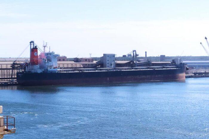 """На терминал """"Ника-Тера"""" зашло судно рекордной длины (ФОТО)"""
